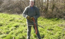 Volunteer at work at Wessington Pasture nature reserve