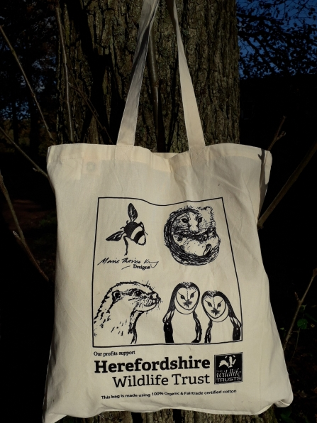 Cotton bag with illustrations