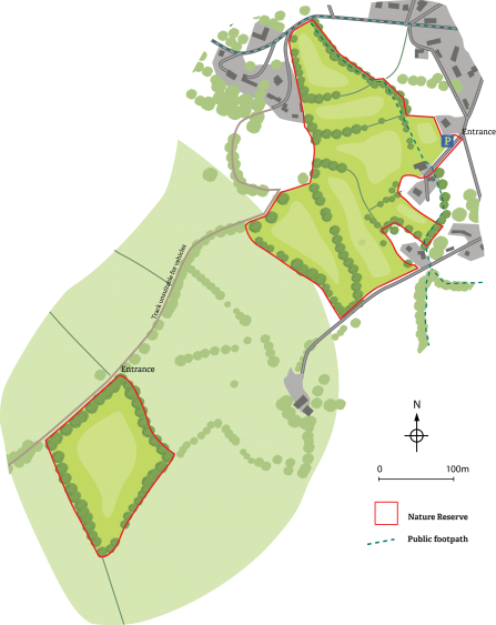 Map of Tretawdy Farm Nature Reserve