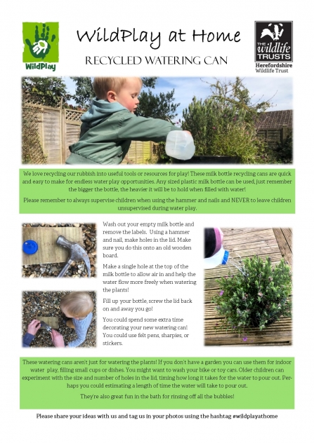 Instructions for making an upcycled watering can